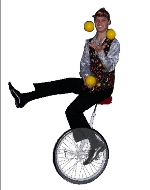 Unicyclists Image 1 - Inspire Productions